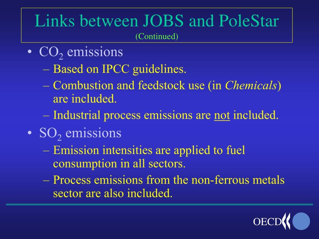 Links between JOBS and PoleStar