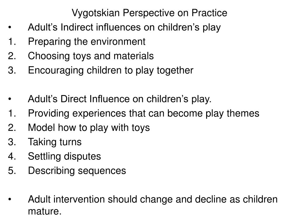 Vygotskian Perspective on Practice