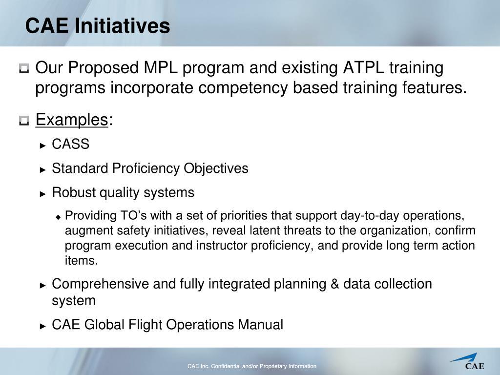 CAE Initiatives