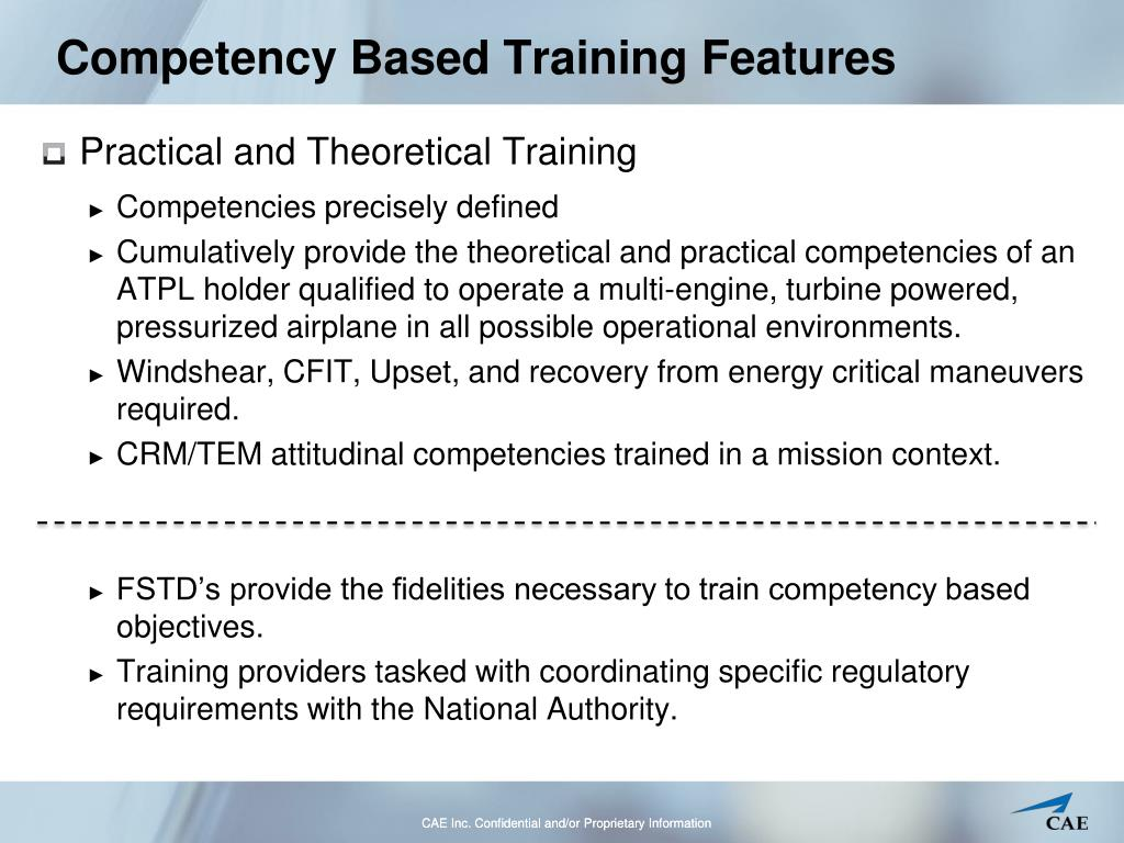 Competency Based Training Features