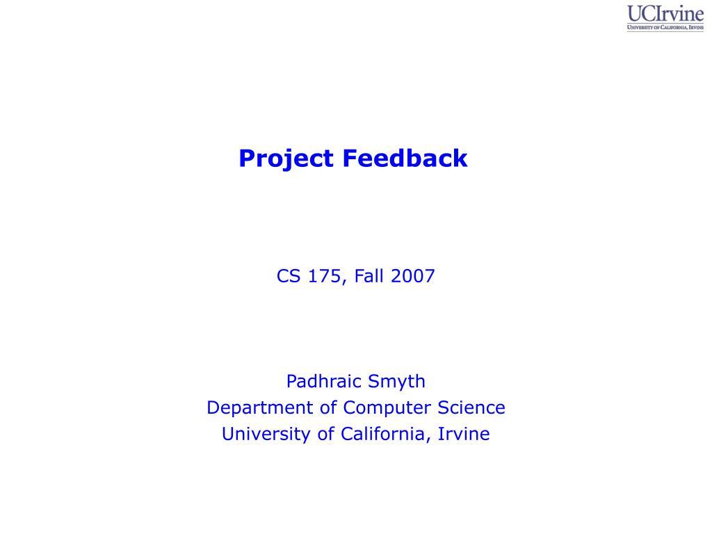 CS 175, Fall 2007