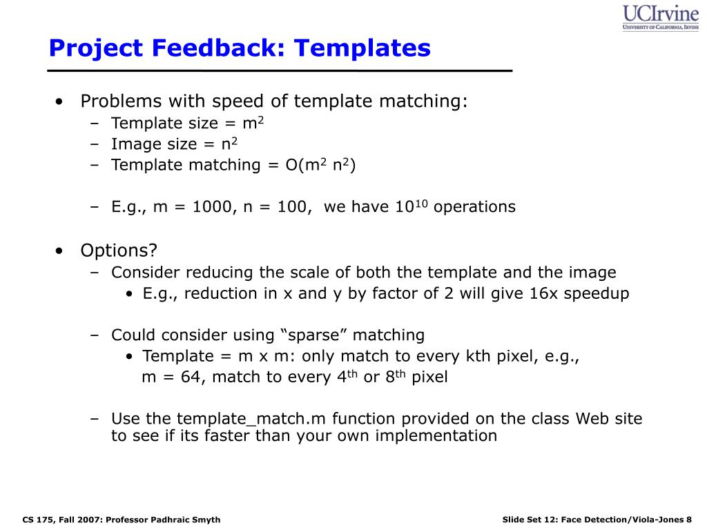 Project Feedback: Templates
