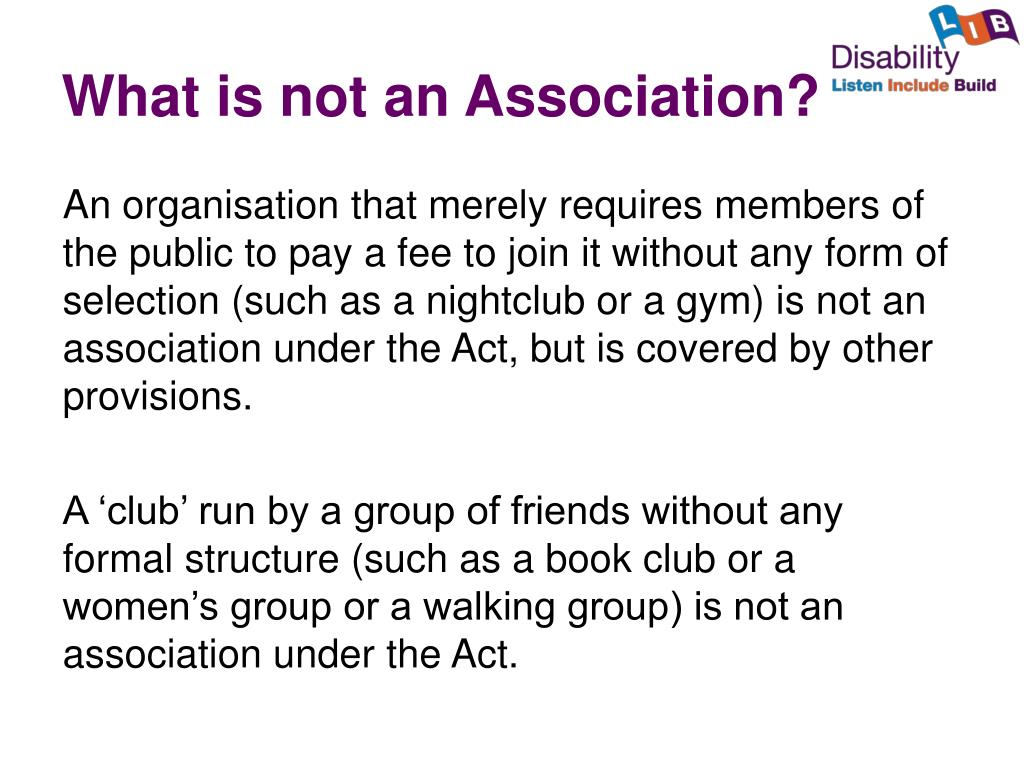What is not an Association?