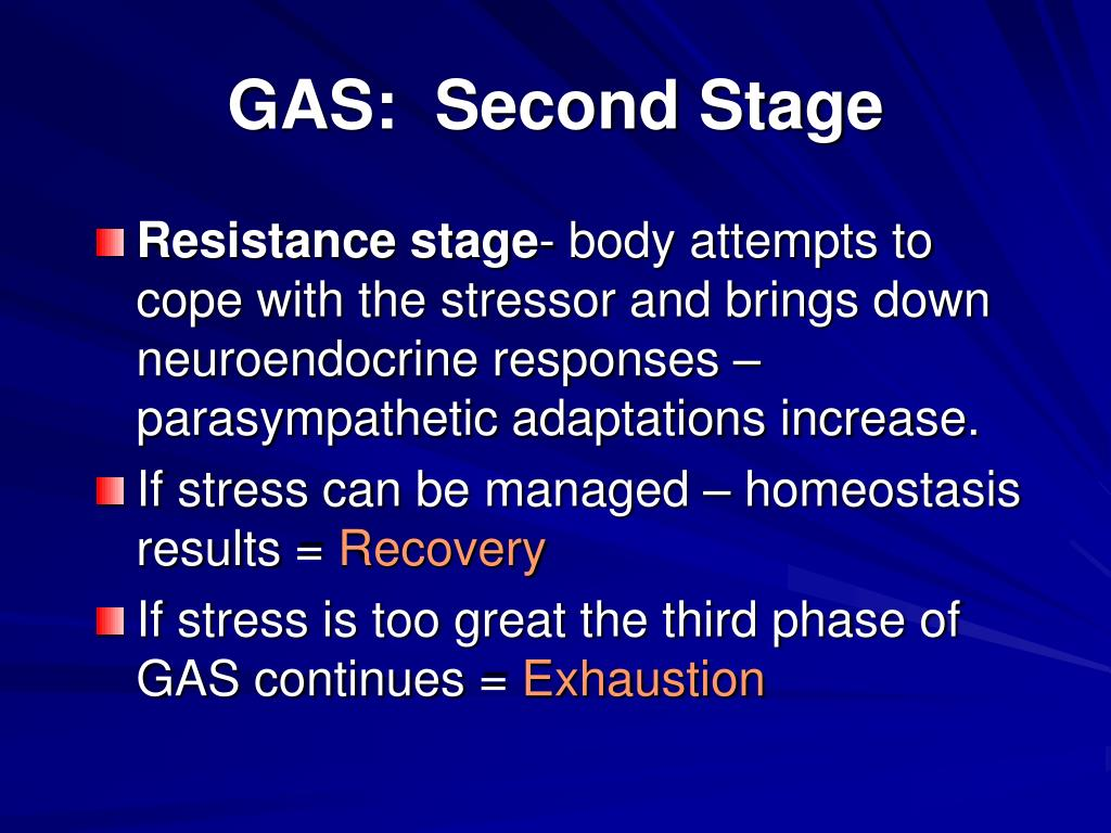 GAS:  Second Stage