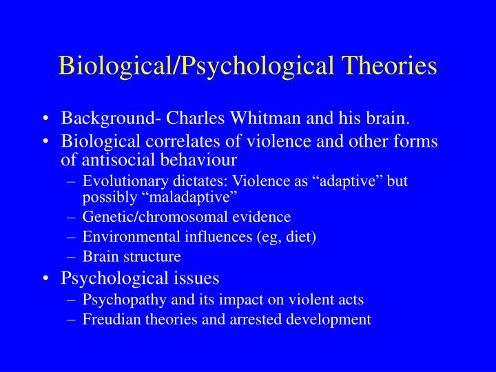 the psychological and biological circumstances that makes a criminal What is criminal psychology criminal behavior - a psychological approach criminal psychology is the study of what makes someone commit a crime and their subsequent reactions to the your work will be directly related to law enforcement and the courts in most circumstances.