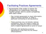 facilitating practices agreements