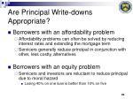 are principal write downs appropriate