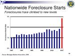 nationwide foreclosure starts foreclosures have climbed to new levels