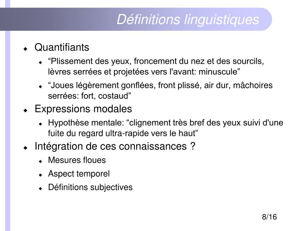 Définitions linguistiques
