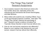 the things they carried research assignments