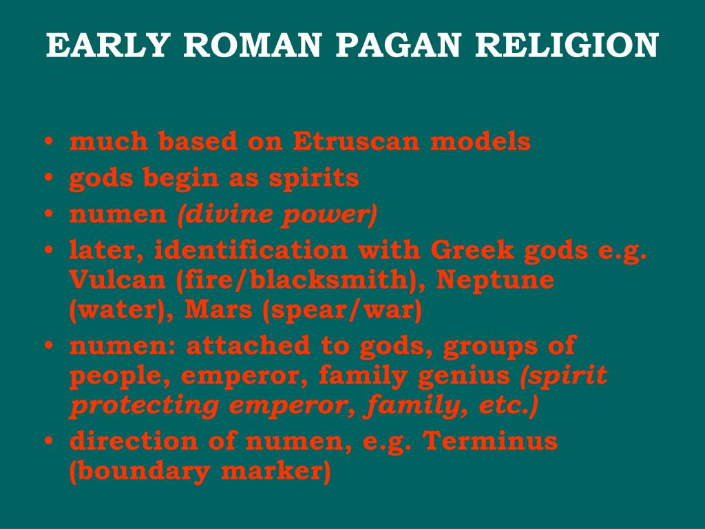 EARLY ROMAN PAGAN RELIGION