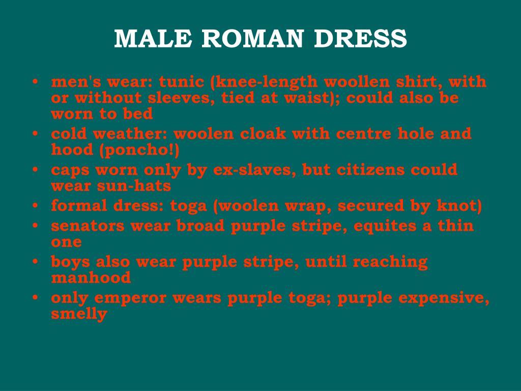 MALE ROMAN DRESS