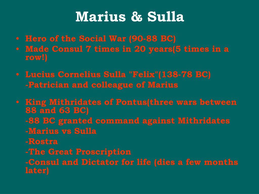 Marius & Sulla