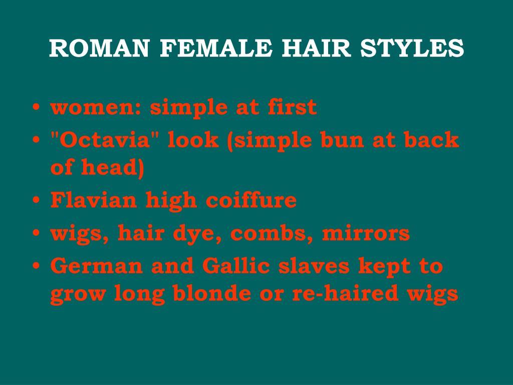 ROMAN FEMALE HAIR STYLES