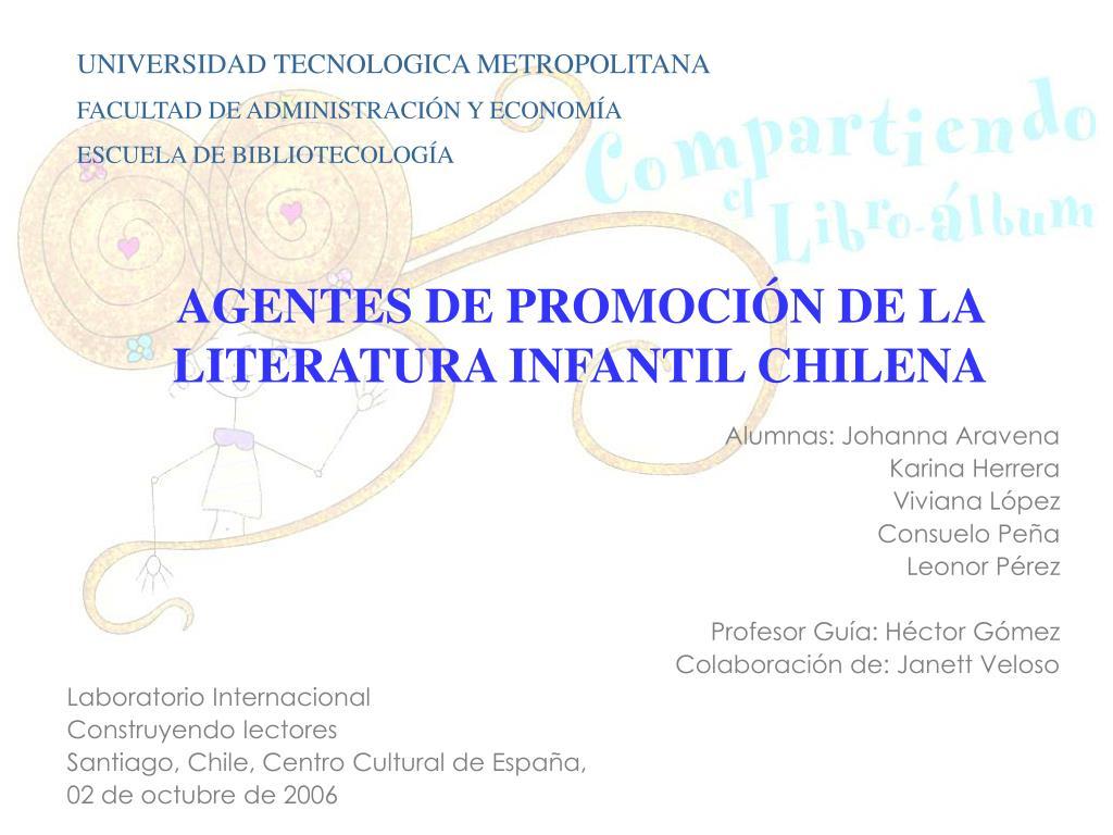 agentes de promoci n de la literatura infantil chilena l.