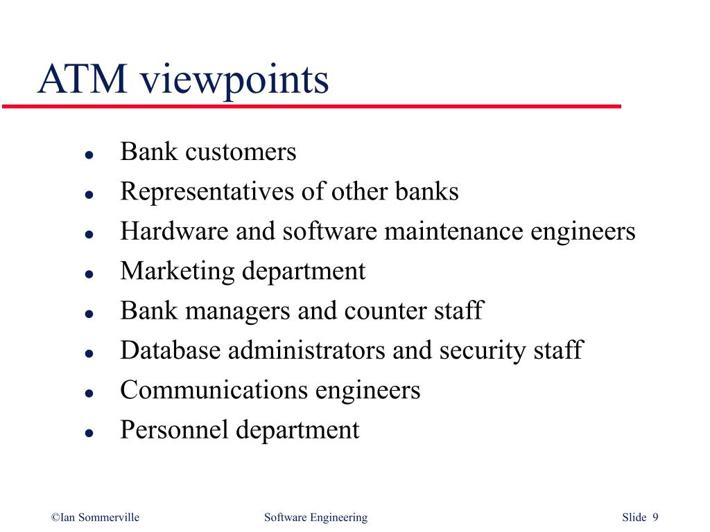 ATM viewpoints