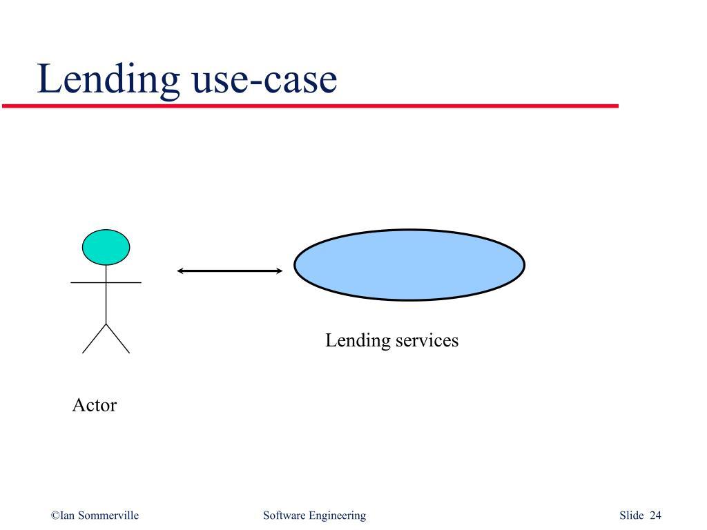 Lending use-case