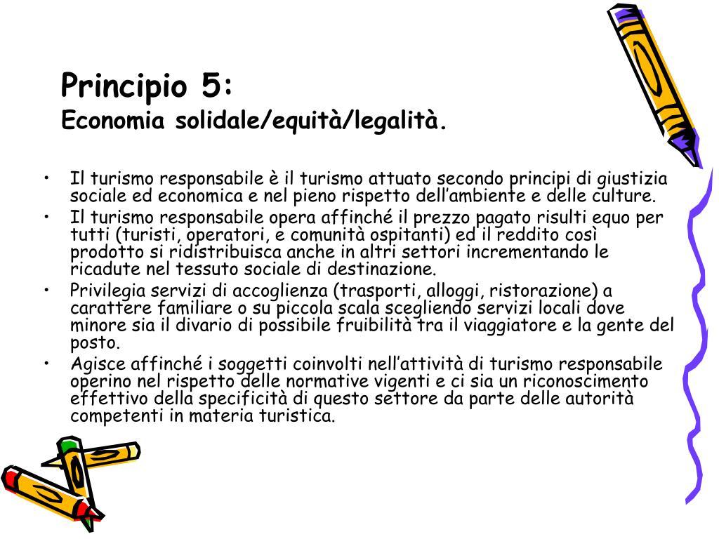 Principio 5: