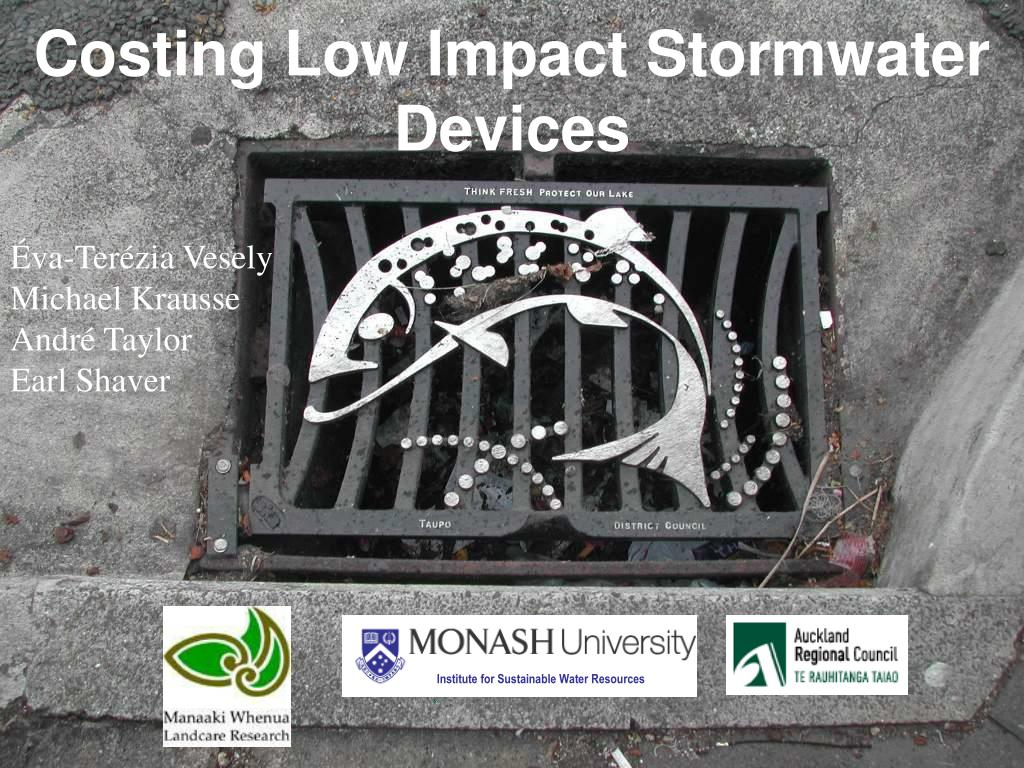 costing low impact stormwater devices