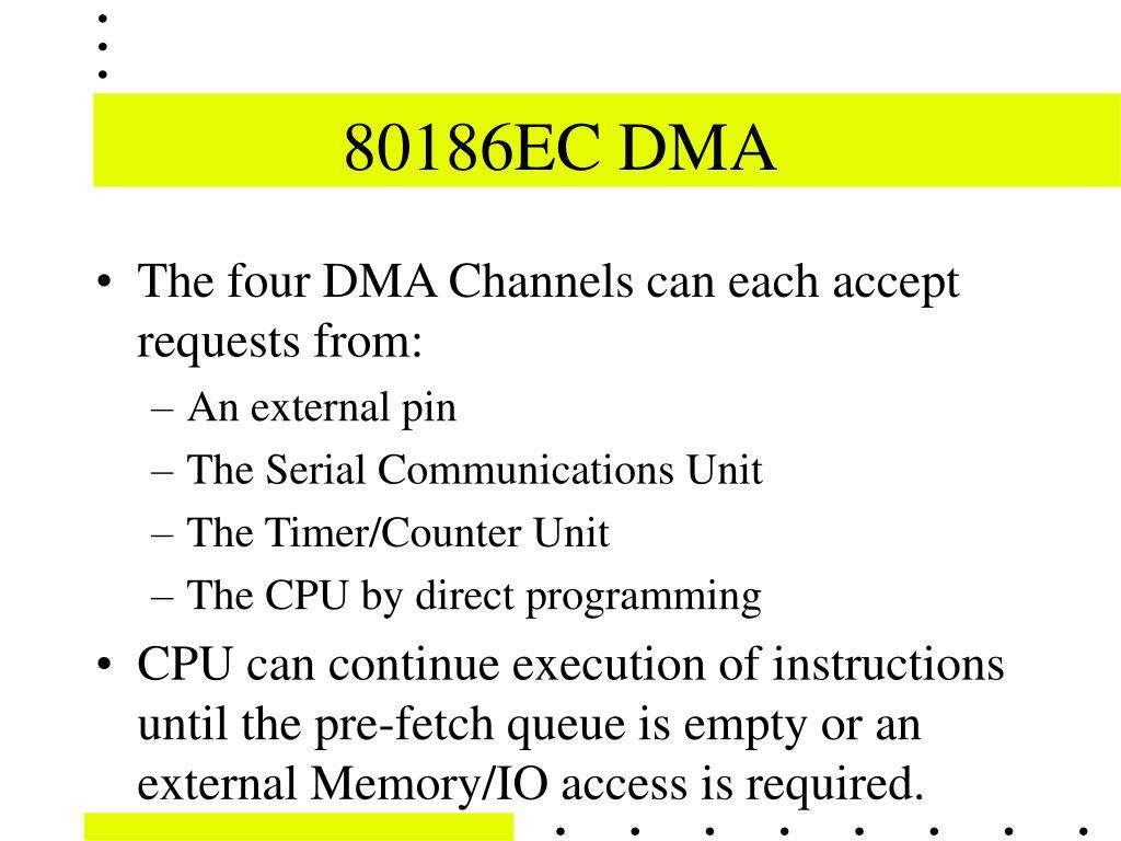 80186EC DMA