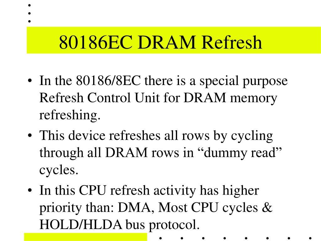 80186EC DRAM Refresh