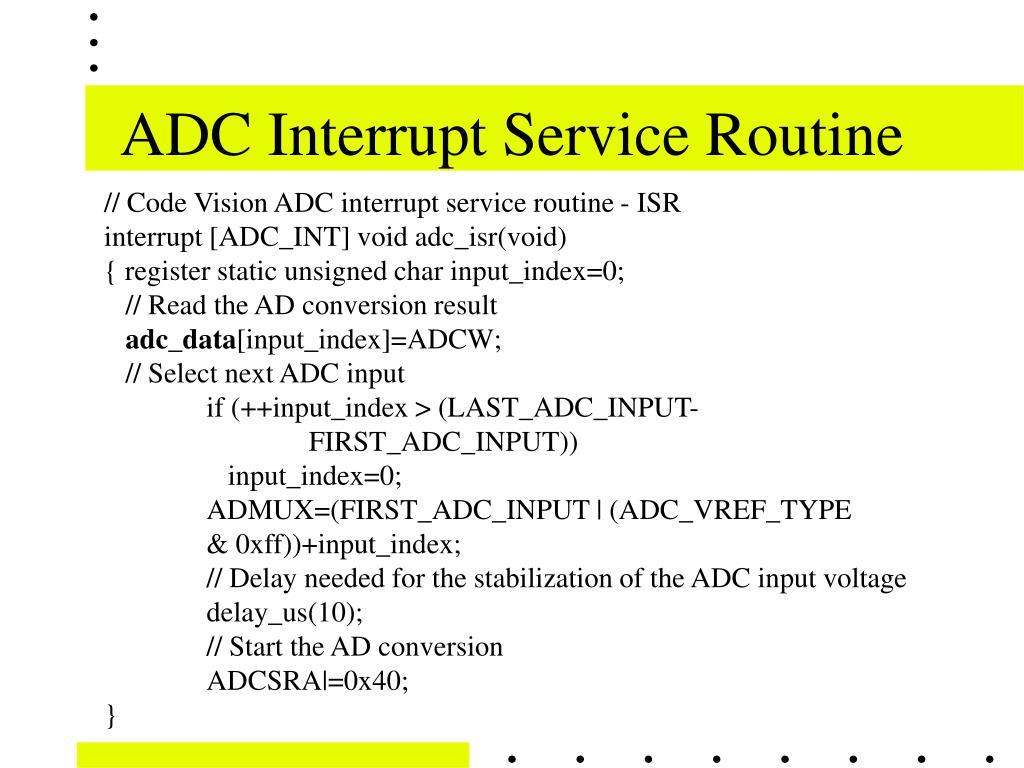 ADC Interrupt Service Routine