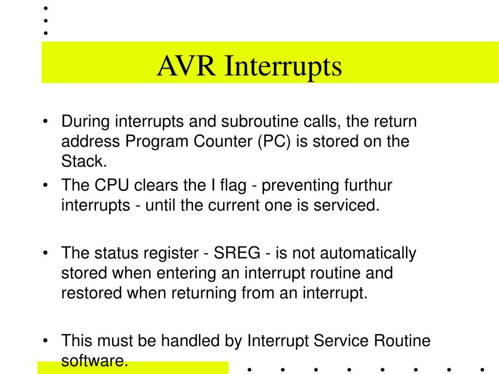 AVR Interrupts