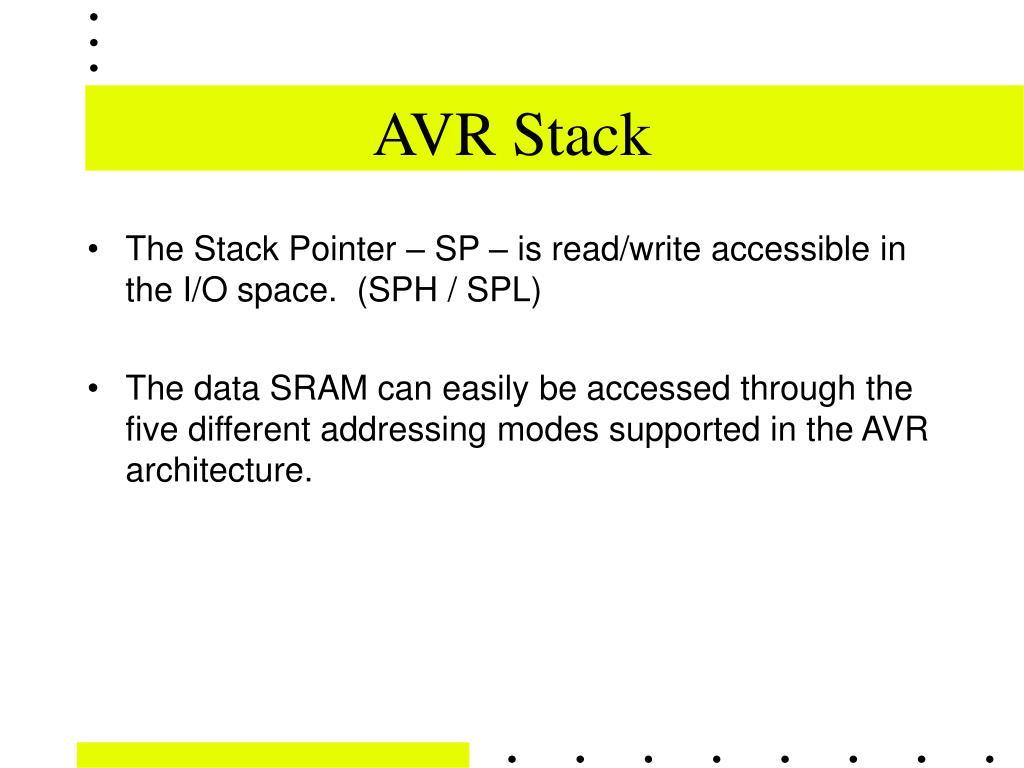 AVR Stack