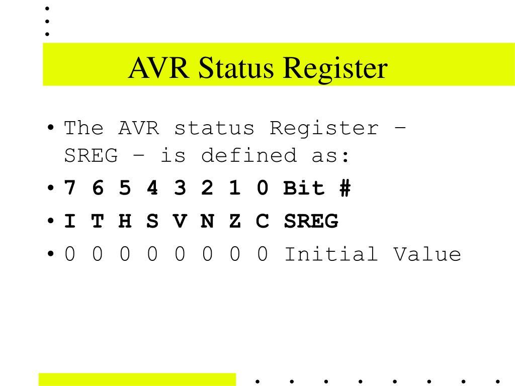 AVR Status Register