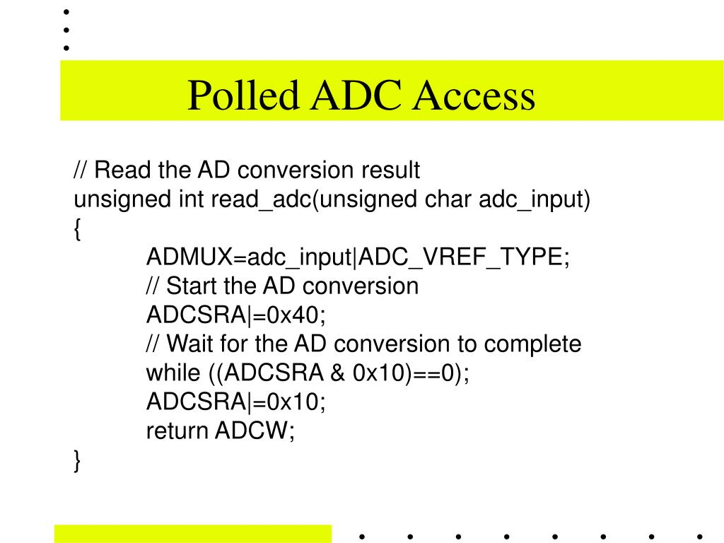 Polled ADC Access