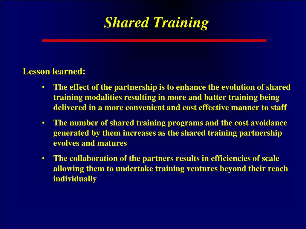 Shared Training