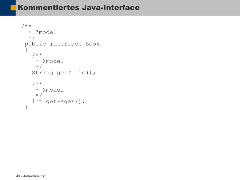 Kommentiertes Java-Interface