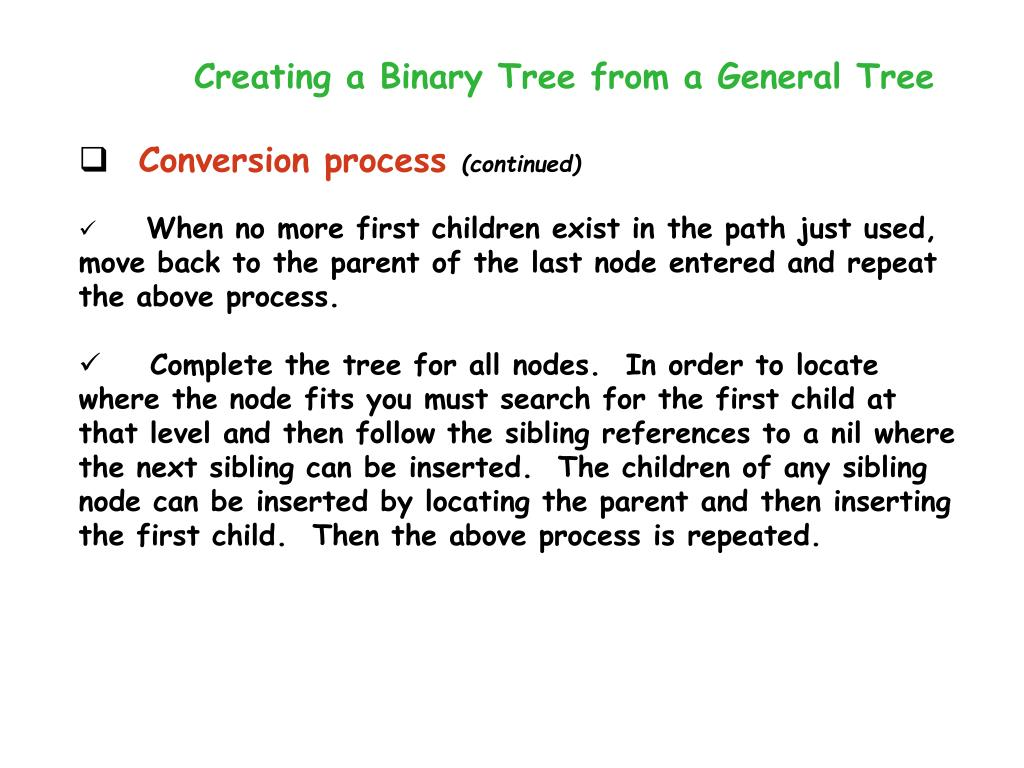 Creating a Binary Tree from a General Tree