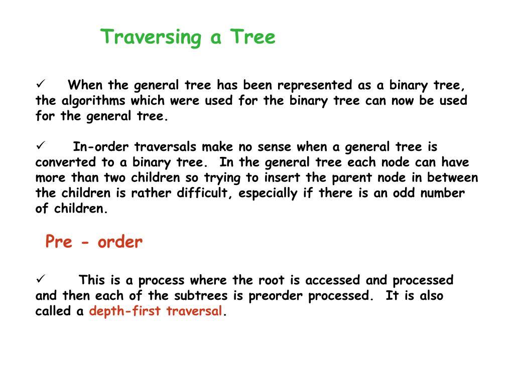 Traversing a Tree