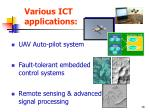 various ict applications