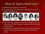 what is sigma alpha iota