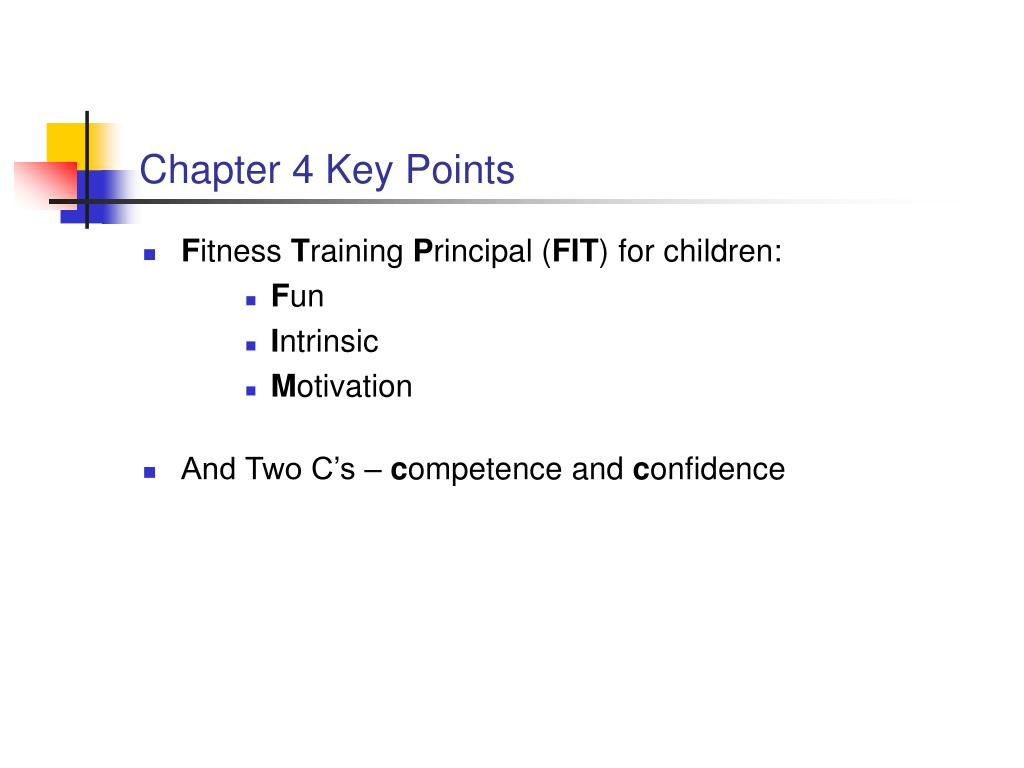 Chapter 4 Key Points