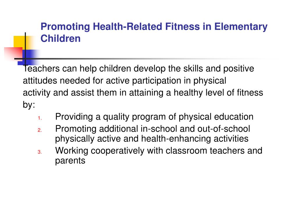Promoting Health-Related Fitness in Elementary Children