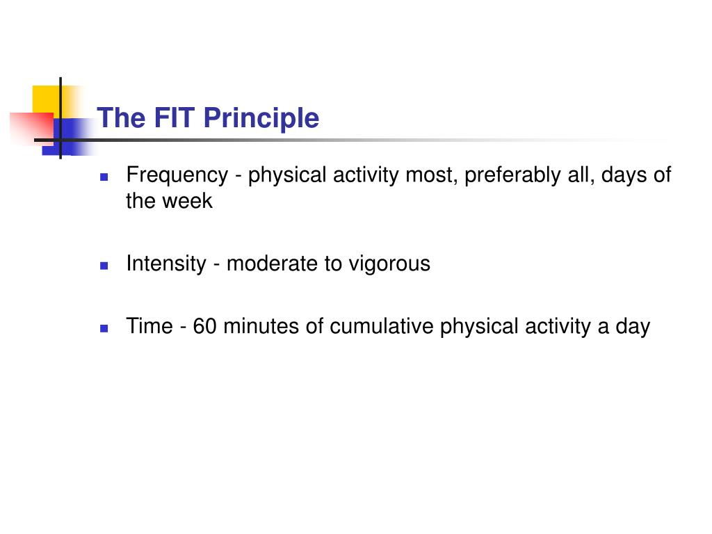 The FIT Principle