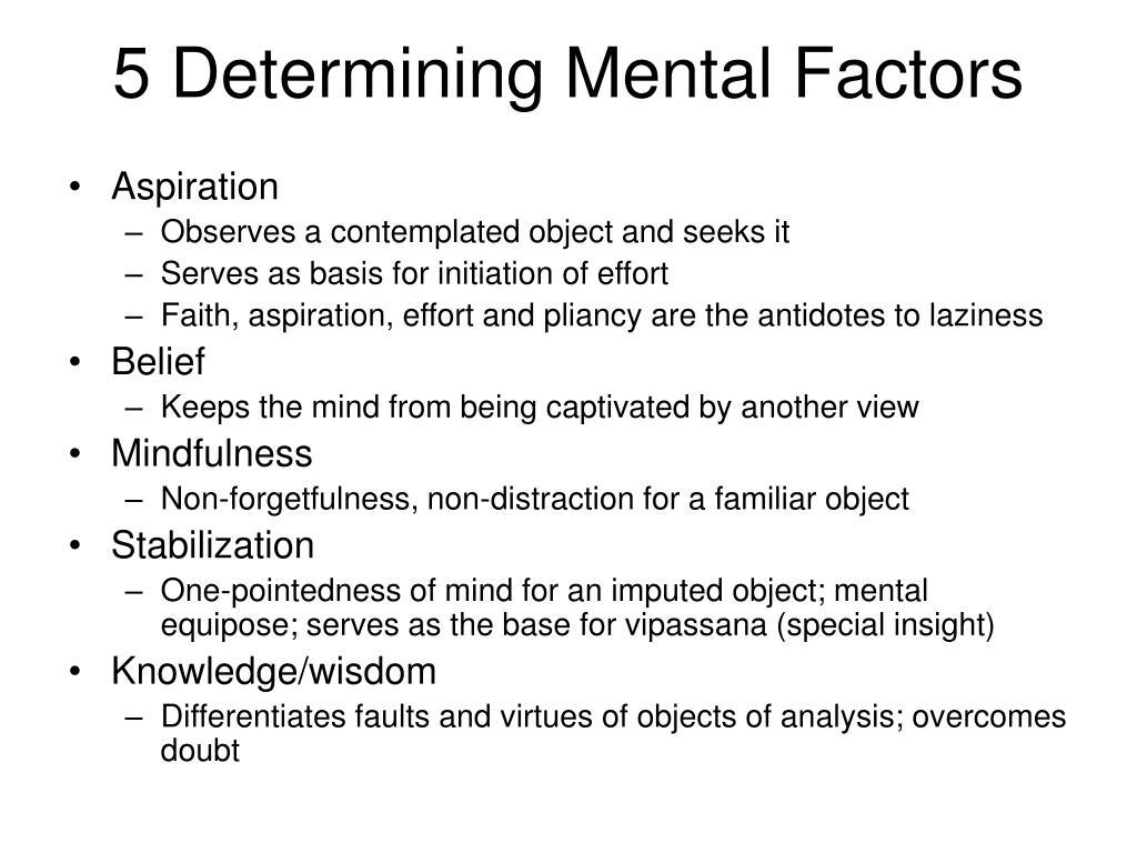 5 Determining Mental Factors