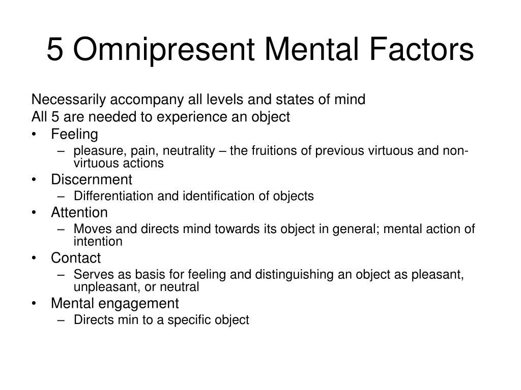 5 Omnipresent Mental Factors