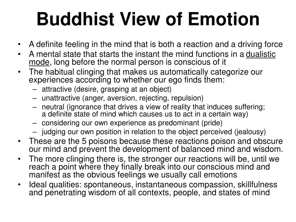 Buddhist View of Emotion