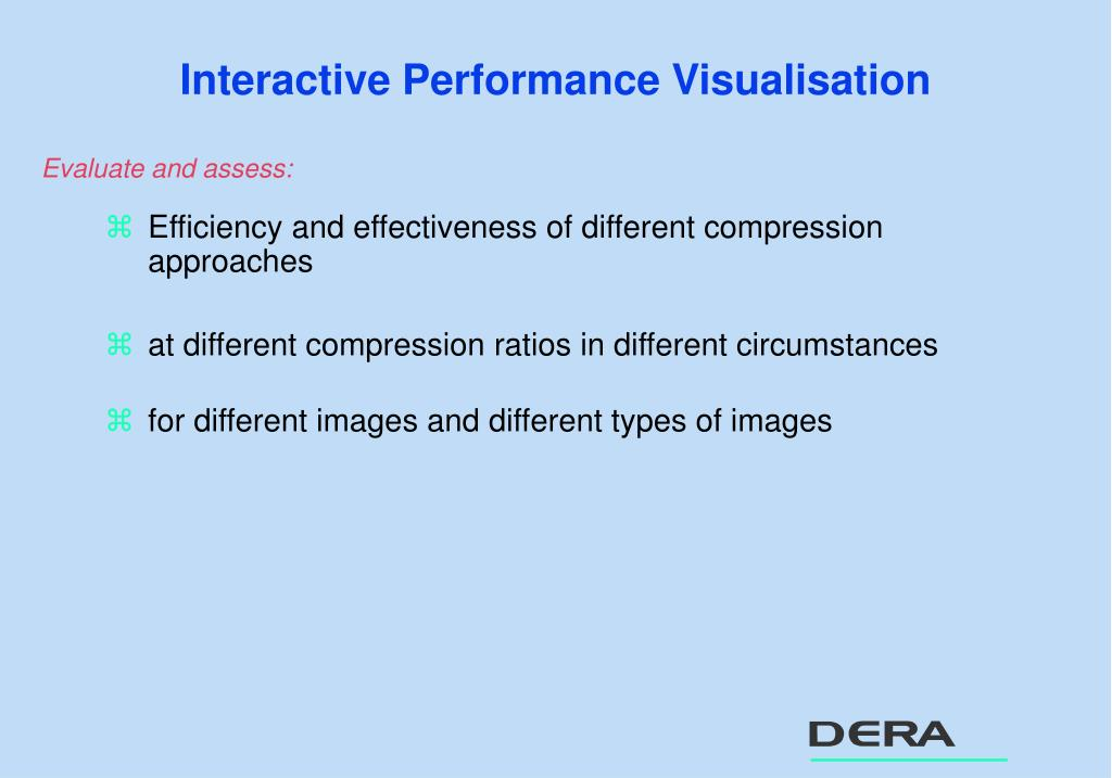 Interactive Performance Visualisation