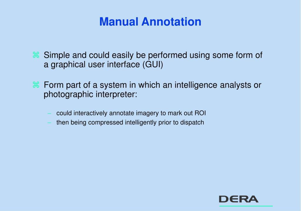 Manual Annotation