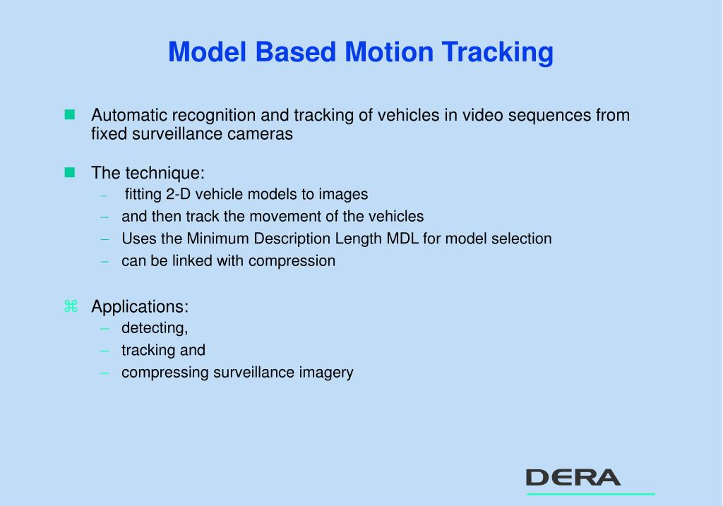 Model Based Motion Tracking