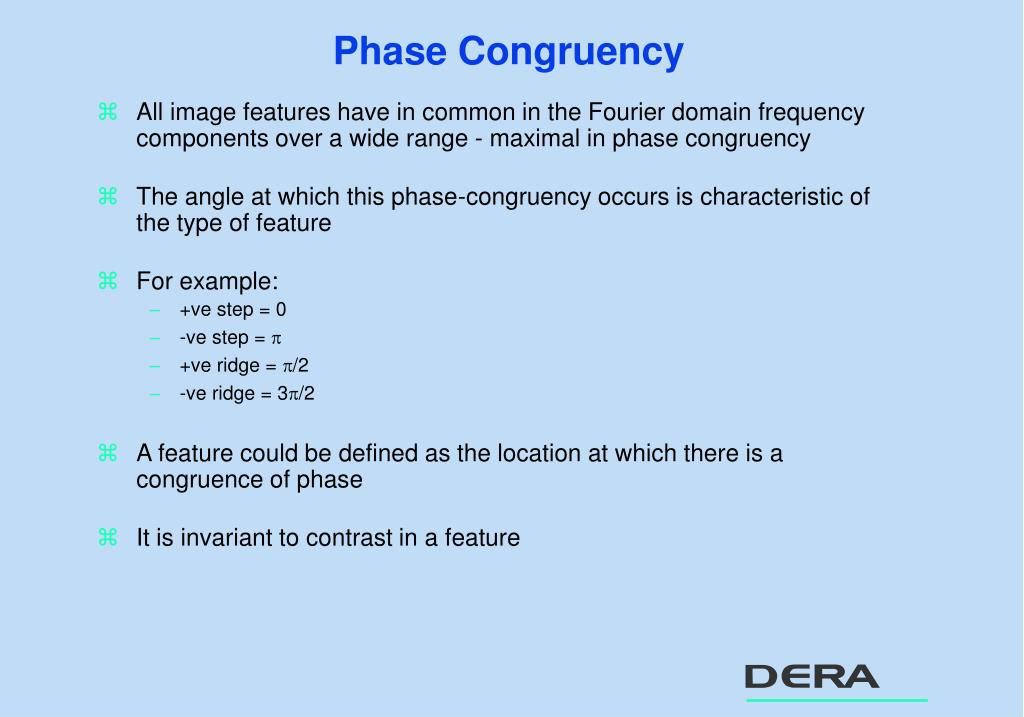 Phase Congruency
