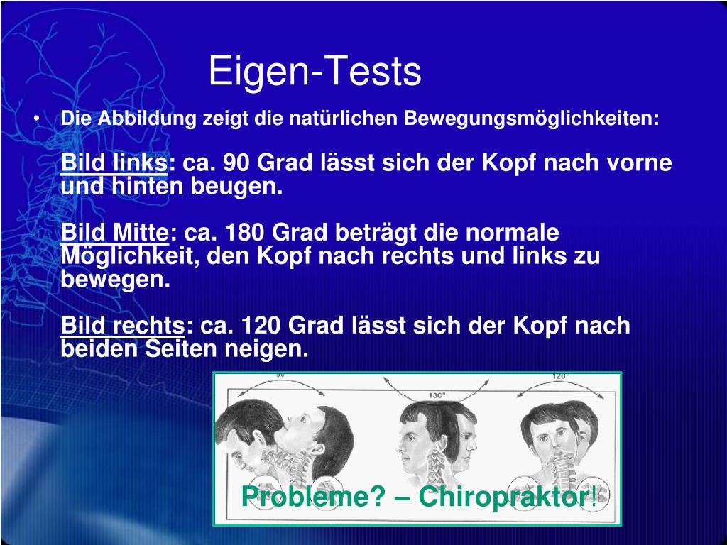Eigen-Tests