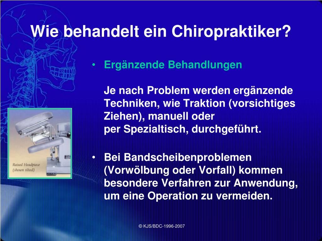 Wie behandelt ein Chiropraktiker?