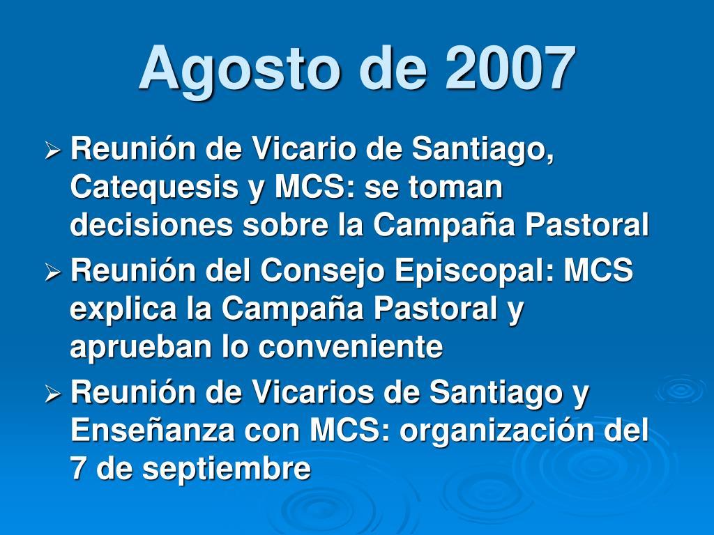 Agosto de 2007