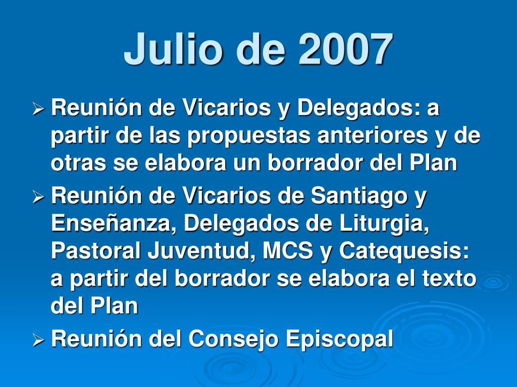 Julio de 2007